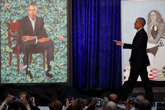 Hat er es auch gesehen? Ex-Präsident Barack Obama und sein offizielles Gemälde.