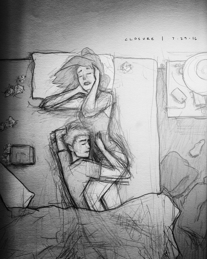 Husband\'s Sketches Of Wife And Kids Are Full Of Love And Raw Emotion ...