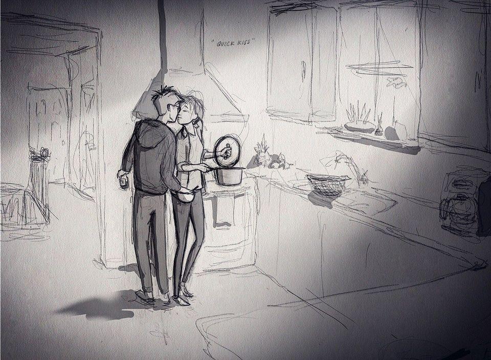 L'amore si trova anche nelle piccole cose. Questi 22 disegni sono il regalo più bello di un marito alla...