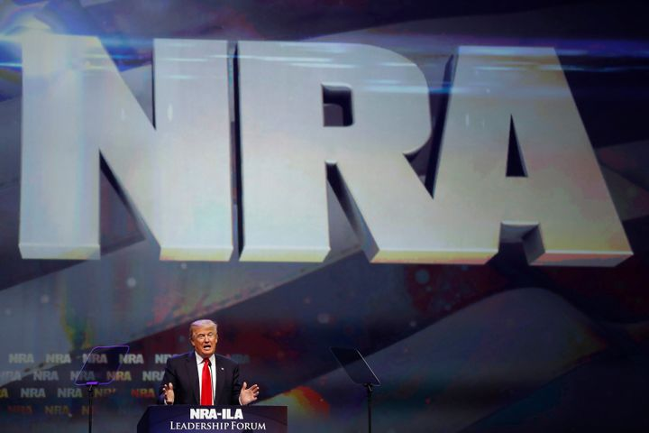 The National Rifle Association spent tens of millions of dollars helping to elect Donald Trump.