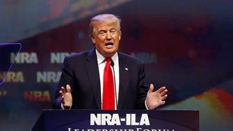 U.S. Republican presidential candidate Donald Trump attends the National Rifle Association's NRA-ILA Leadership Forum during their annual meeting in Louisville, Kentucky, U.S., May 20, 2016. REUTERS/Aaron P. Bernstein/File Photo