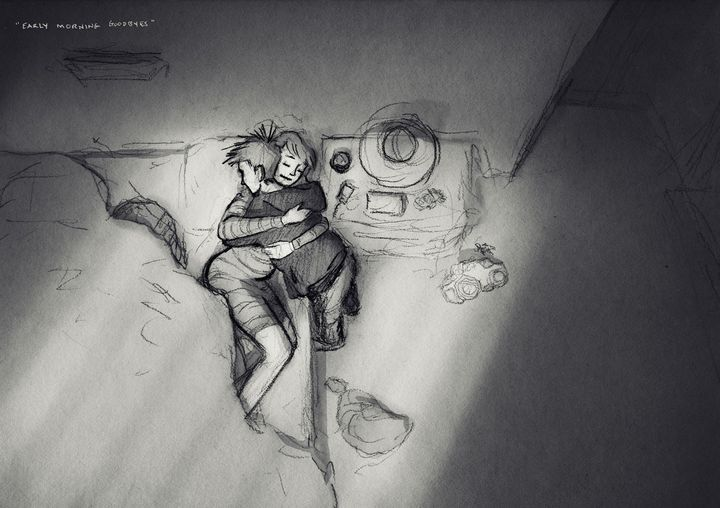 Husbands Sketches Of Wife And Kids Are Full Love Raw Emotion