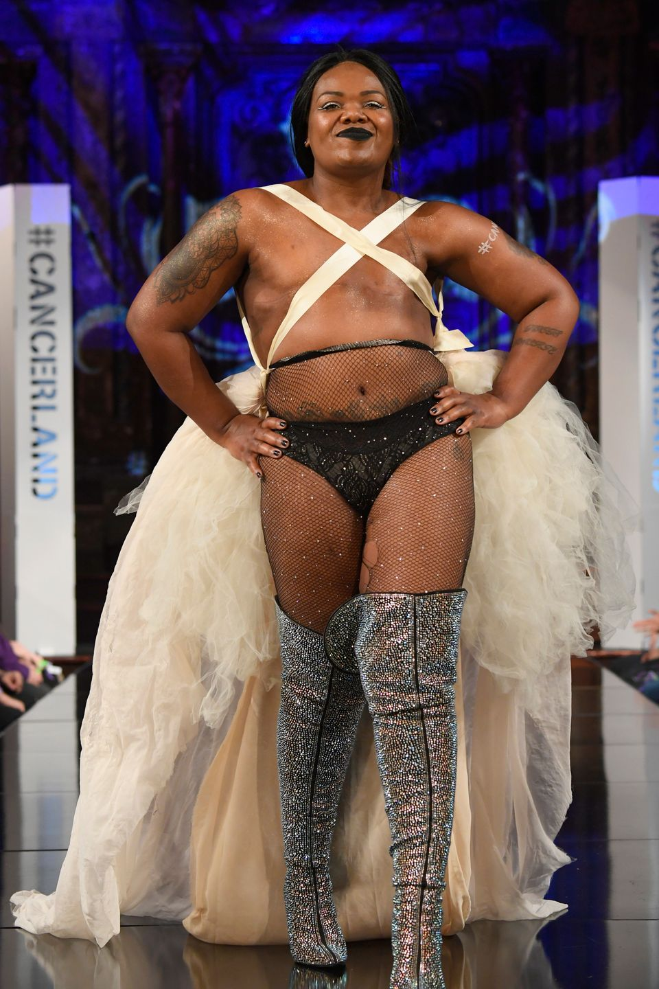 c0c95d271d Breast Cancer Survivors Showcase Their Surgical Scars At New York Fashion  Week Lingerie