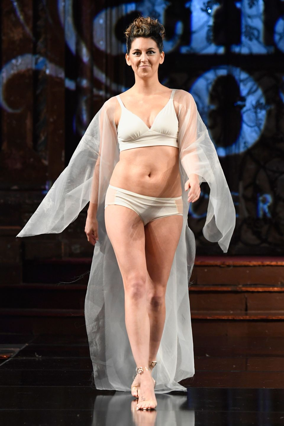 Breast Cancer Survivors Showcase Their Surgical Scars At New York Fashion Week Lingerie