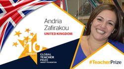 Global Teacher Prize: Η ελληνικής καταγωγής δασκάλα Άντρια Ζαφειράκου μεταξύ των 10 καλύτερων δασκάλων του