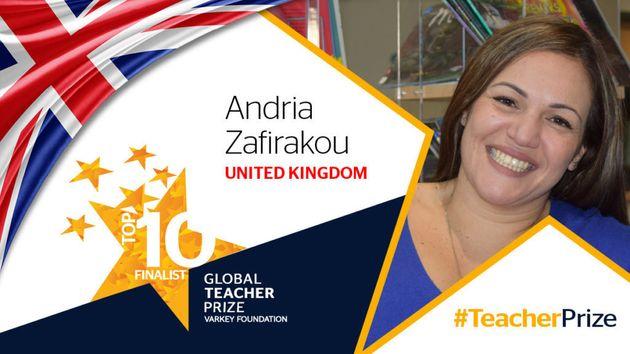 Global Teacher Prize: Η ελληνικής καταγωγής δασκάλα Άντρια Ζαφειράκου μεταξύ των 10 καλύτερων δασκάλων...
