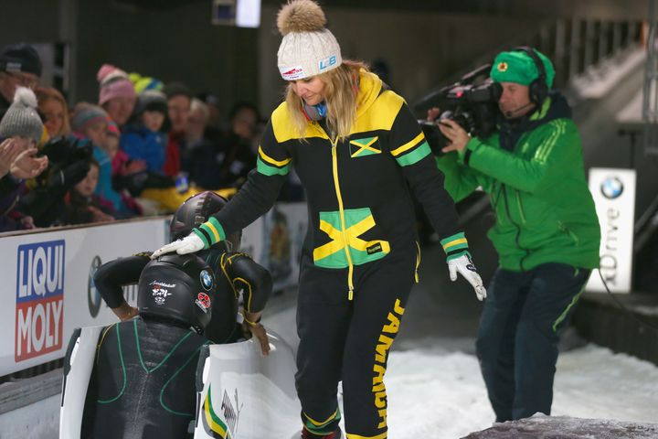 Sandra Kiriasis, right, has quit her role as coach on the Jamaican bobsleigh team.