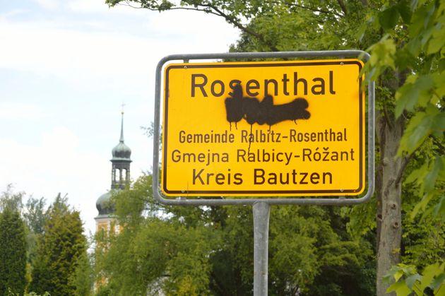 Róžant – auchdie sorbischeBezeichnung von Rosenthal haben Unbekannte