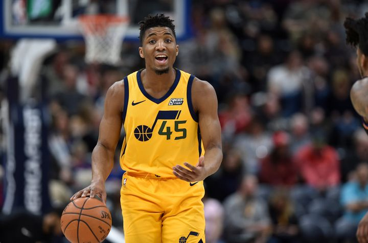 Donovan Mitchell inked messages onto the side of his shoes during Wednesday night's game.