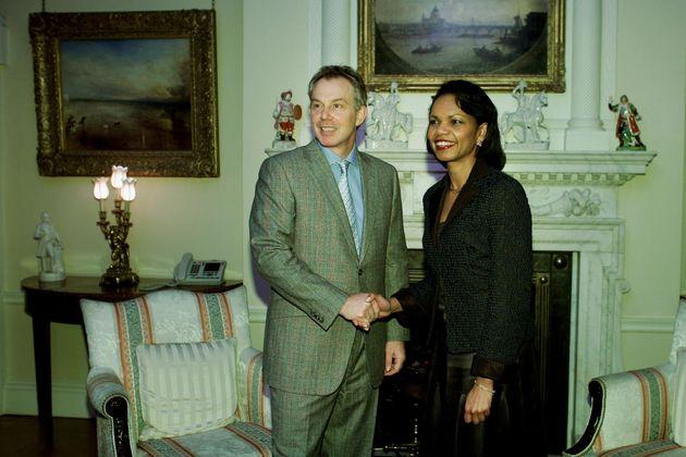 Tony BlairwithCondoleezza Rice when she wasUS Secretary of