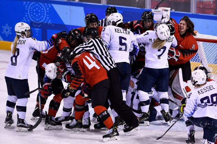 Canada defeated the United States in group play but both teams advanced to the semifinals.