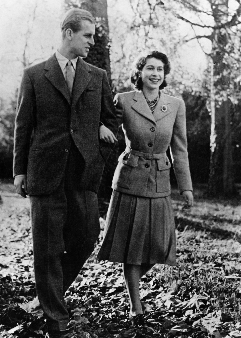 The Queen and the Duke of Edinburgh spent much of their winter honeymoon in Broadlands,