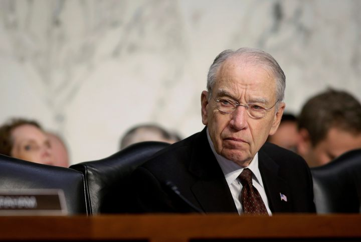 Senate Judiciary Chairman Chuck Grassley says the attorney general shouldn't have weighed in on a drug sentencing reform bill