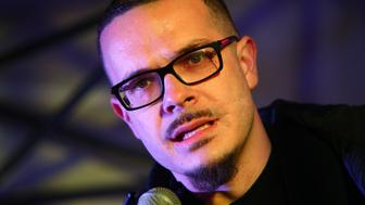 SEATTLE, WA - MARCH 08: Shaun King, a Black Lives Matter leader and writer for the New York Daily News, speaks a rally at Westlake Center on March 8, 2017 in Seattle, Washington. The rally was co-hosted by Seattle City Councilmember Kshama Sawant and Socialist Students USA in honor of International Women's Day, to stand up for reproductive rights and economic equality for women. (Photo by Karen Ducey/Getty Images)