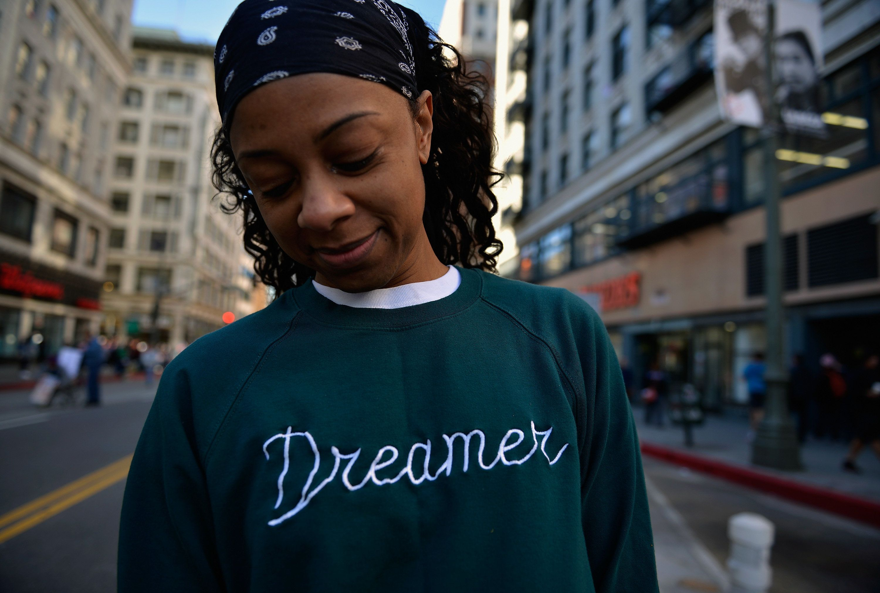 LOS ANGELES, CA - JANUARY 20:  A participant is seen during the Women's March Los Angeles 2018 on January 20, 2018 in Los Angeles, California.  (Photo by Chelsea Guglielmino/Getty Images)