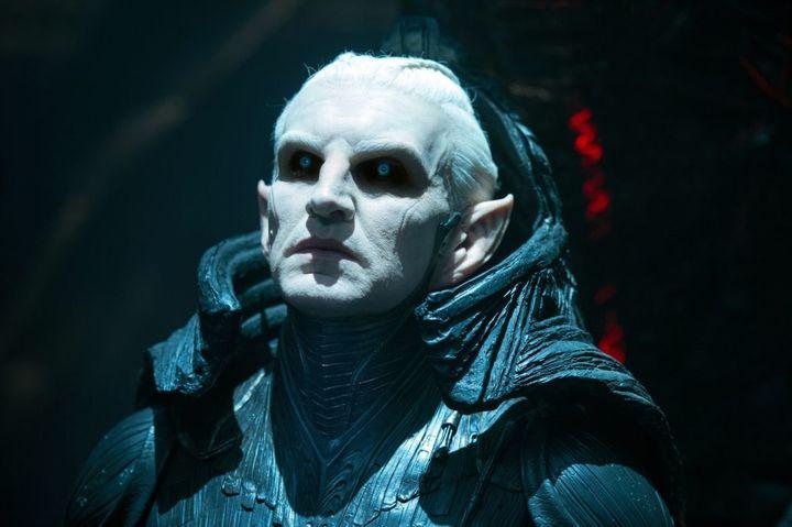 Christopher Eccleston as Dark Elf warlord Malekith in Thor: The Dark World.