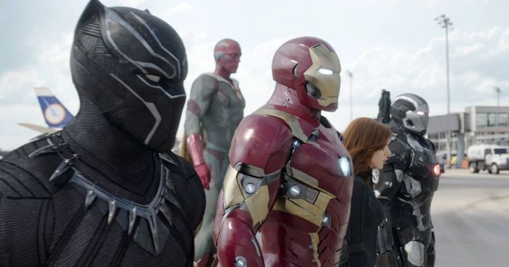 Black Panther is on the side of Team Iron Man in the pivotal battle from Captain America: Civil War.