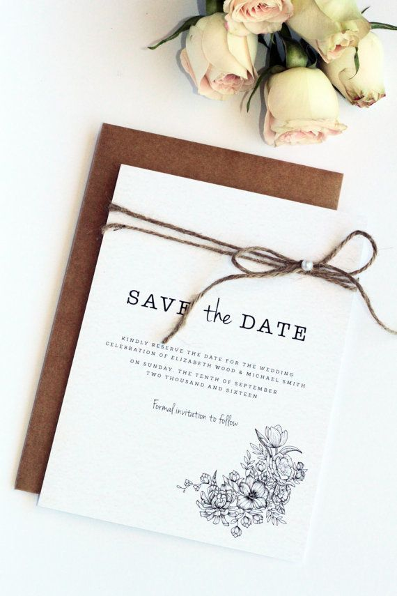 """If you're going for a classier look for your save the dates, check out this <a href=""""https://www.etsy.com/shop/ParadiseInvita"""