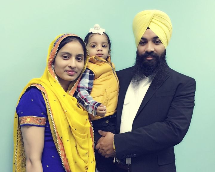 Gurjeet Singh has lived in the U.S. for three years. He has a wife and a toddler.