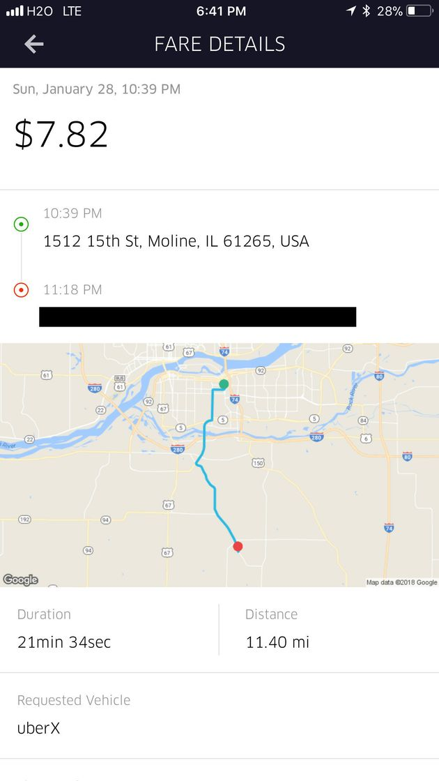 A screen shot provided by the Sikh Coalition purports to show the route Singh took during the ride on...