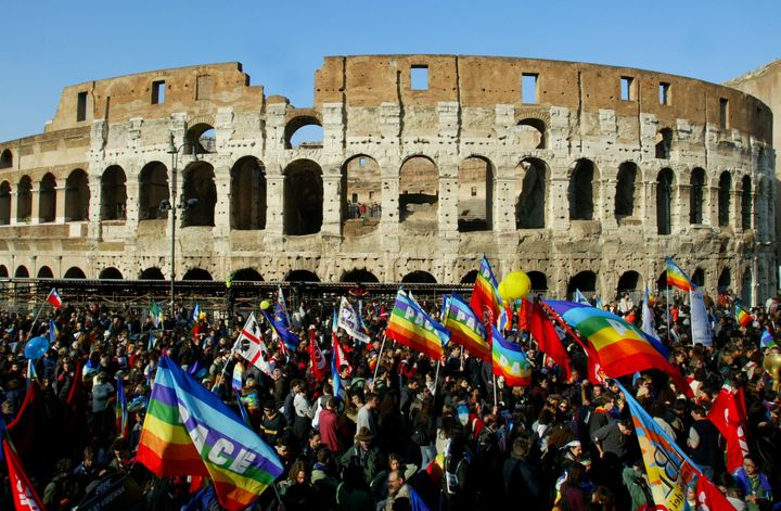 1 million protested the Iraq War on Feb. 15, 2003 in Rome.