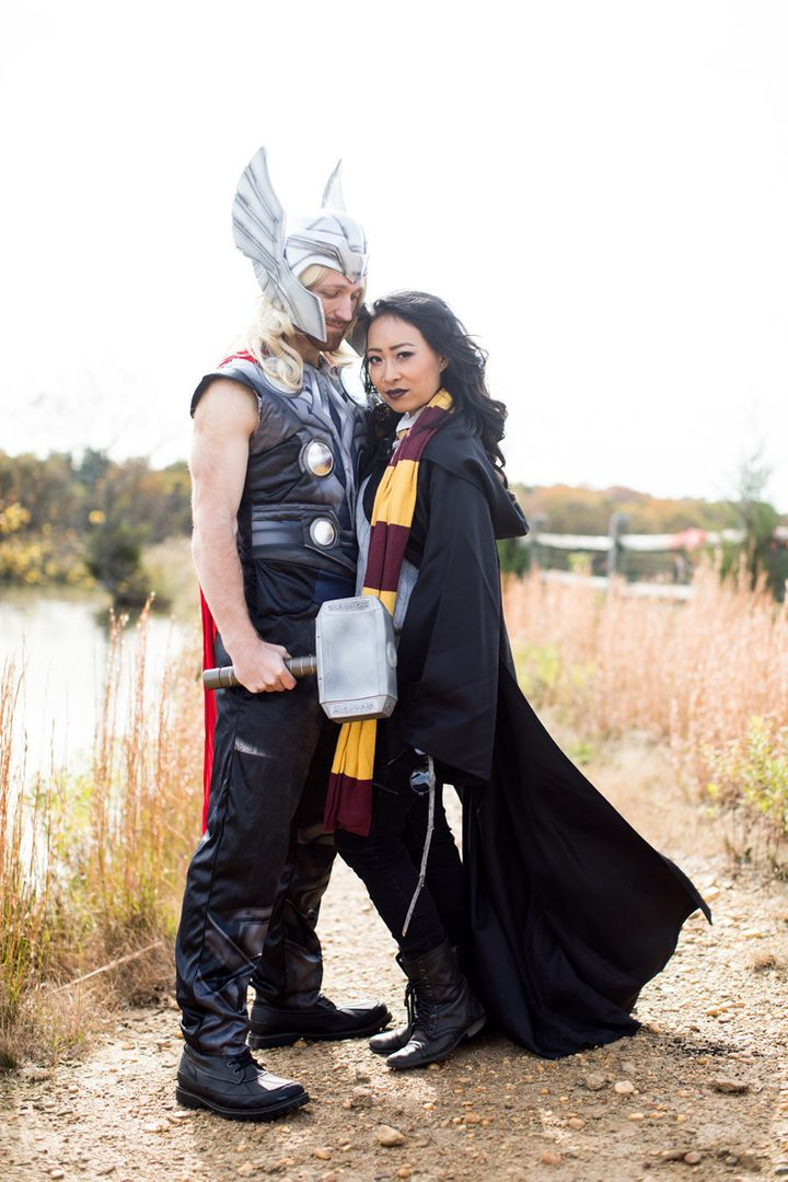 Thor and Harry Potter, two unrelated characters the couple are huge fans of.