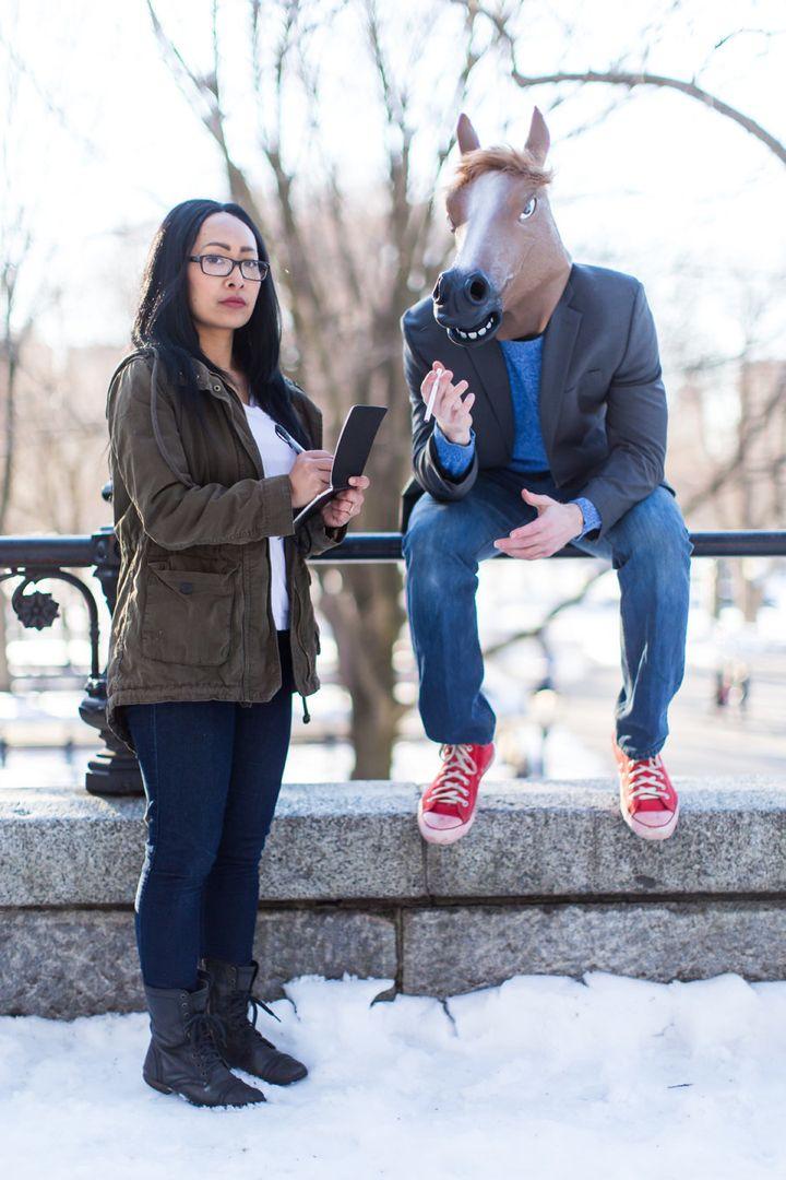 "BoJack Horseman and Diane Nguyen from ""BoJack Horseman."""