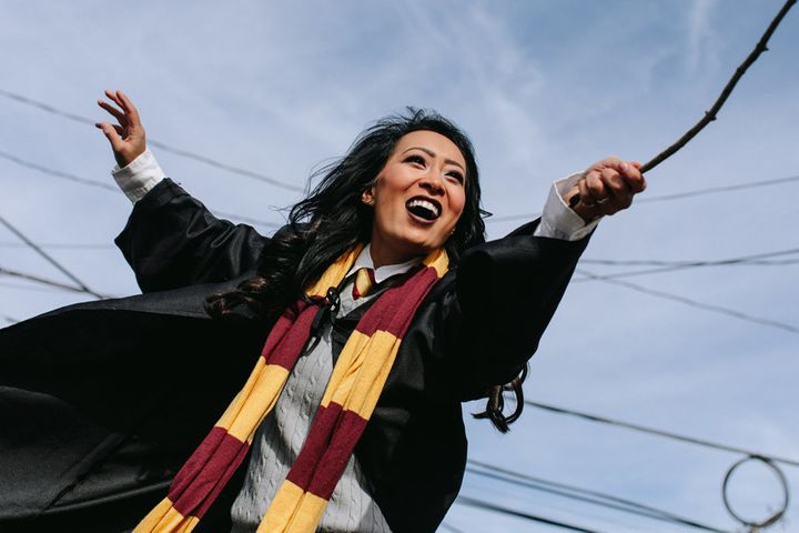 Nguyen as Harry Potter.