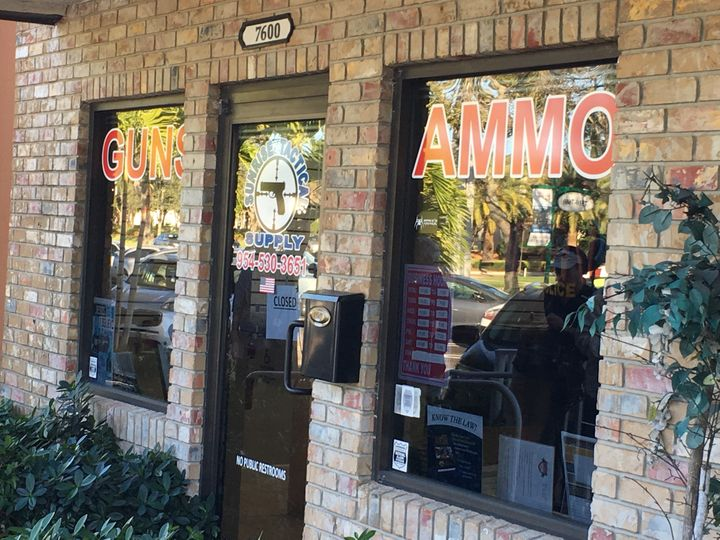 The gun store in Coral Springs, Florida, where Nikolas Cruz reportedly legally bought an AR-15 assault-style rifle.