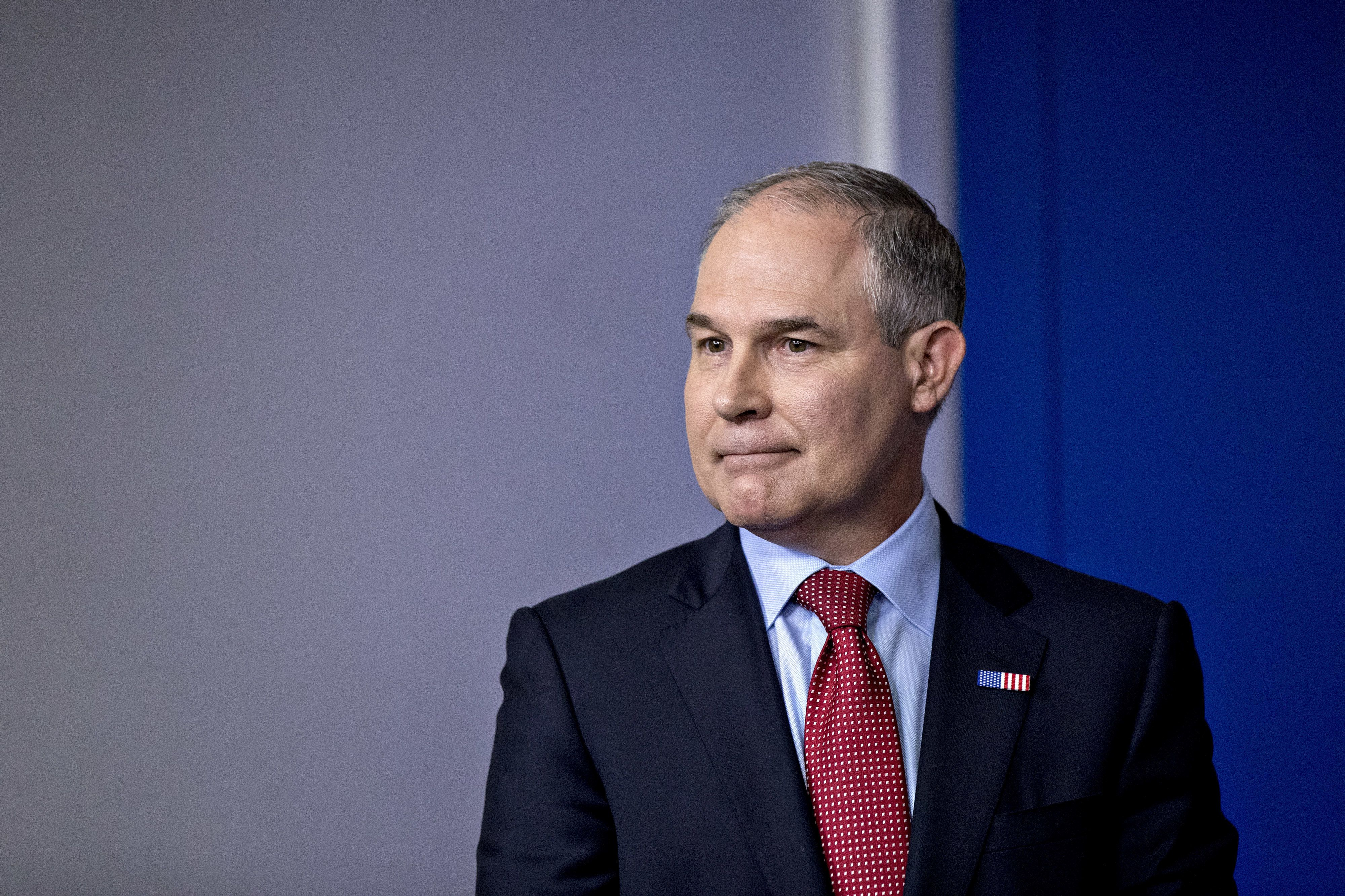 """The Environmental Protection Agency says Scott Pruitt is often booked in premium cabins because he has been """"approached"""