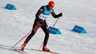 Cross-Country Skiing - Pyeongchang 2018 Winter Olympics - Men's 15km Free - Alpensia Cross-Country Skiing Centre - Pyeongchang, South Korea - February 16, 2018 - Pita Taufatofua of Tonga competes. REUTERS/Murad Sezer