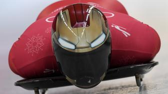 PYEONGCHANG-GUN, SOUTH KOREA - FEBRUARY 13:  Sungbin Yun of Korea trains during the Mens Skeleton training session on day four of the PyeongChang 2018 Winter Olympic Games at Olympic Sliding Centre on February 13, 2018 in Pyeongchang-gun, South Korea.  (Photo by Matthias Hangst/Getty Images)