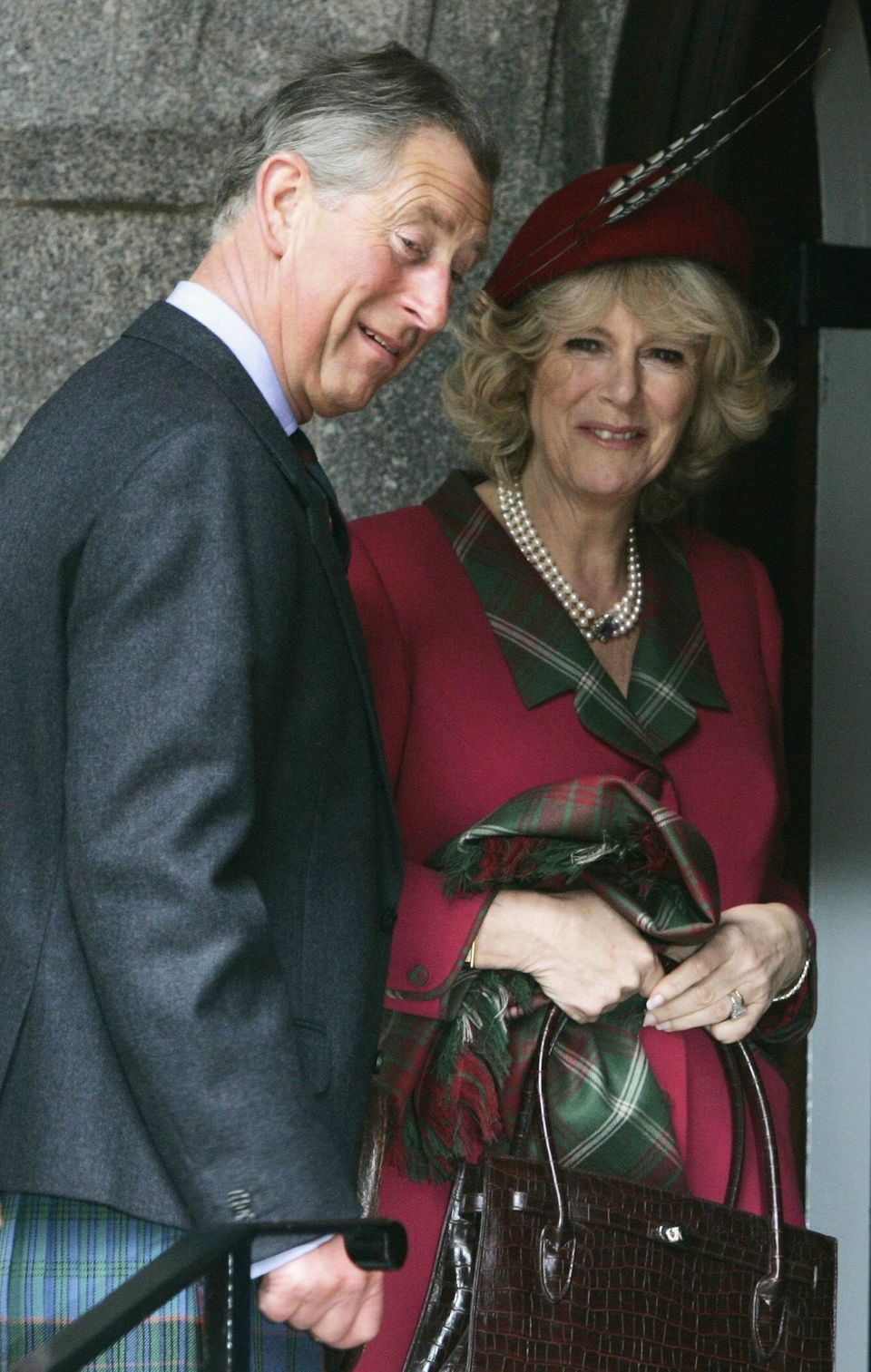 Prince Charles and the Duchess of Cornwall during their 2005 honeymoon in