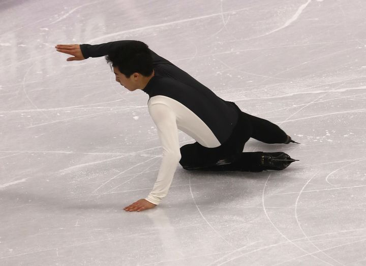 Multiple gaffes left Nathan Chen in 17th place.