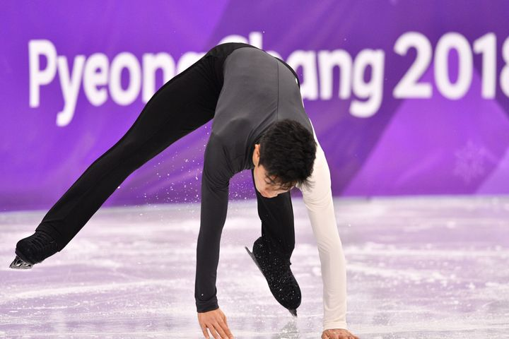Nathan Chen, pictured Friday in the men's short program, isn't living up to the hype in South Korea games.