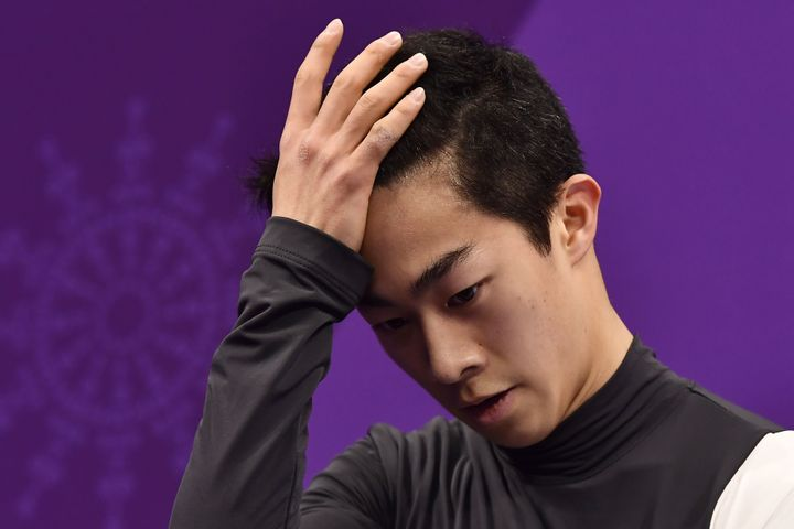 Nathan Chen had plenty to think about after his disastrous routine in the men's short program.