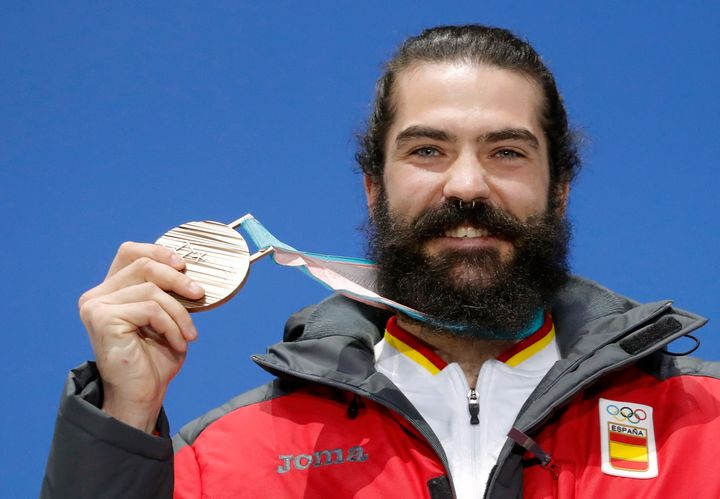 Regino Hernández Martín won bronze for Spain at the Winter Olympics in Pyeongchang, South Korea.