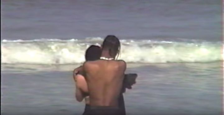A still of Jenner and Scott from the nearly 12-minute video.