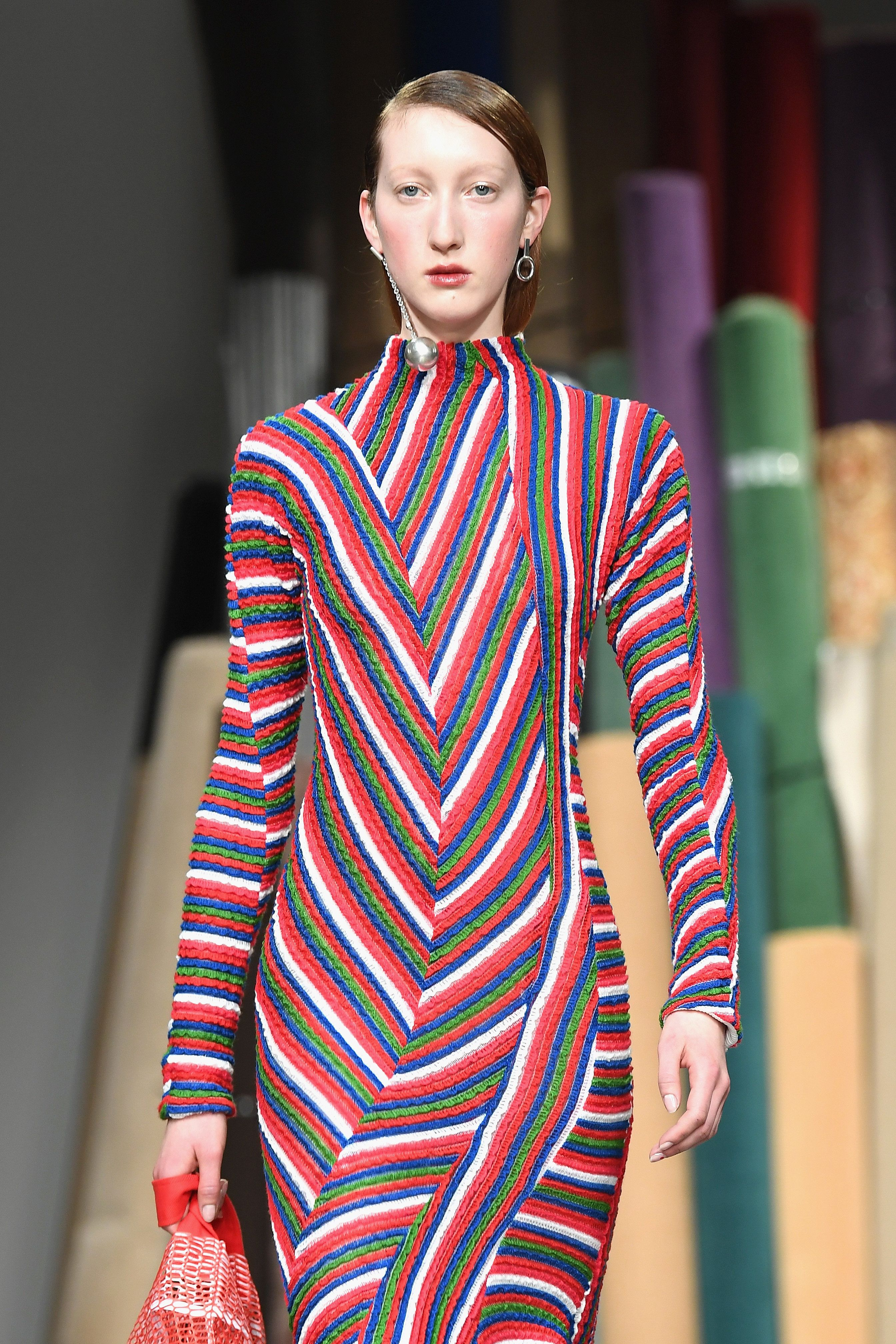 Looks We Love: Richard Malone Reinventing The Stripe At London Fashion