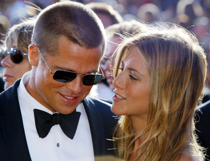 Brad Pitt and Jennifer Aniston, in this September 19, 2004 file photo. Aniston filed for divorce on March 25, 2005. And now,