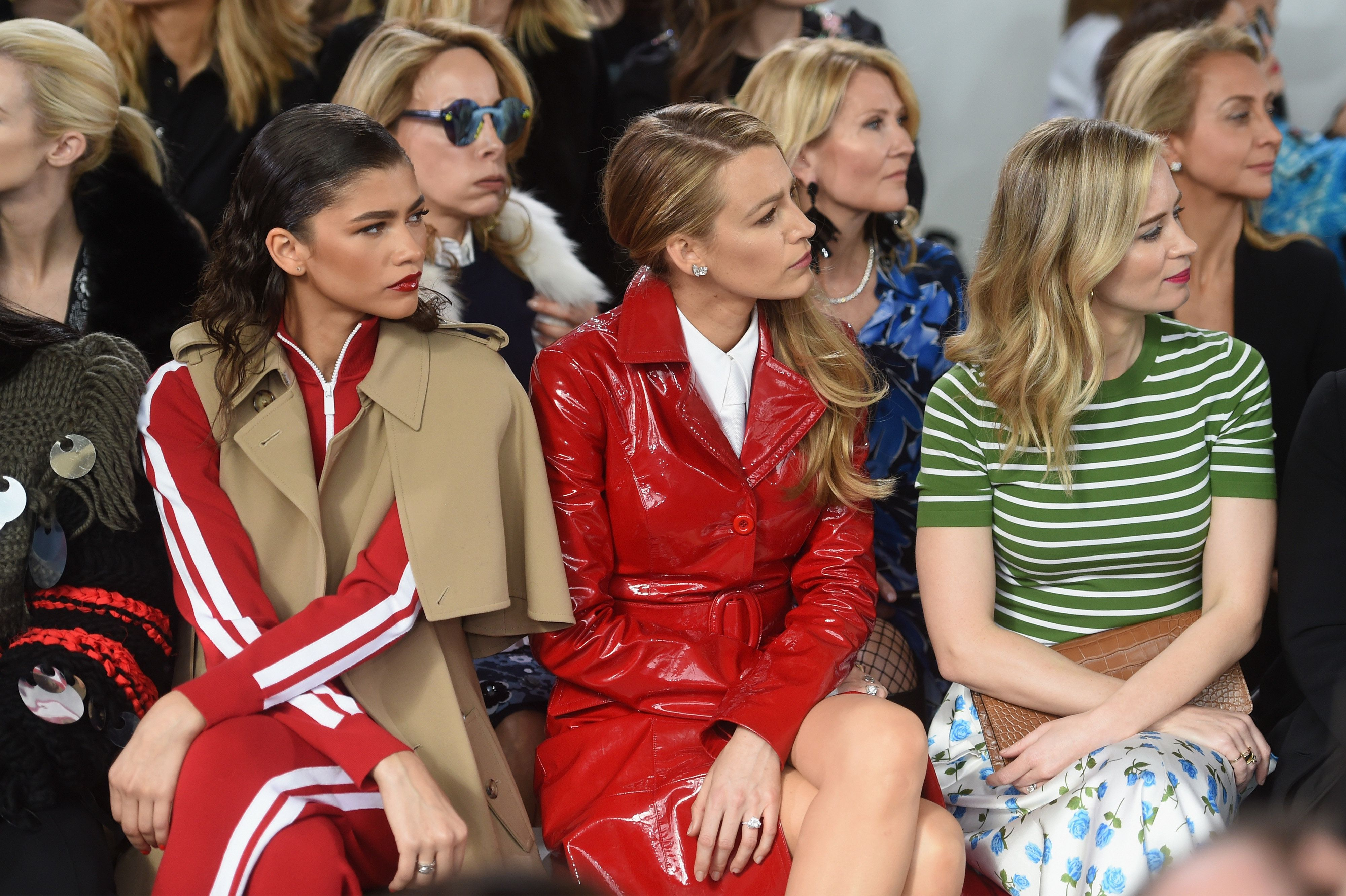Zendaya, Blake Lively and Emily Blunt attend the Michael Kors Collection Fall 2018 Runway