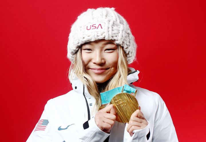 Chloe Kim won a gold medal in the women's snowboard halfpipe event in the Pyeongchang Olympics.