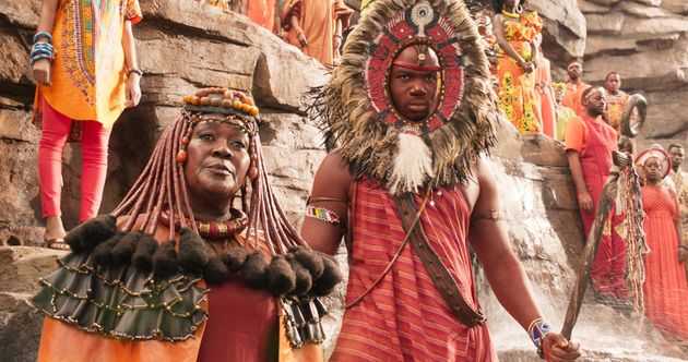 The attire of the tribes of Wakanda incorporates aspects of different African cultures and