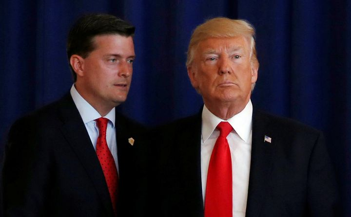 White House staff secretary Rob Porter and President Donald Trump appear together in 2017.