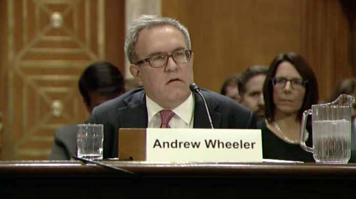Andrew R. Wheeler testifies before the Senate Environment and Public Works Committee on Nov. 8, 2017.