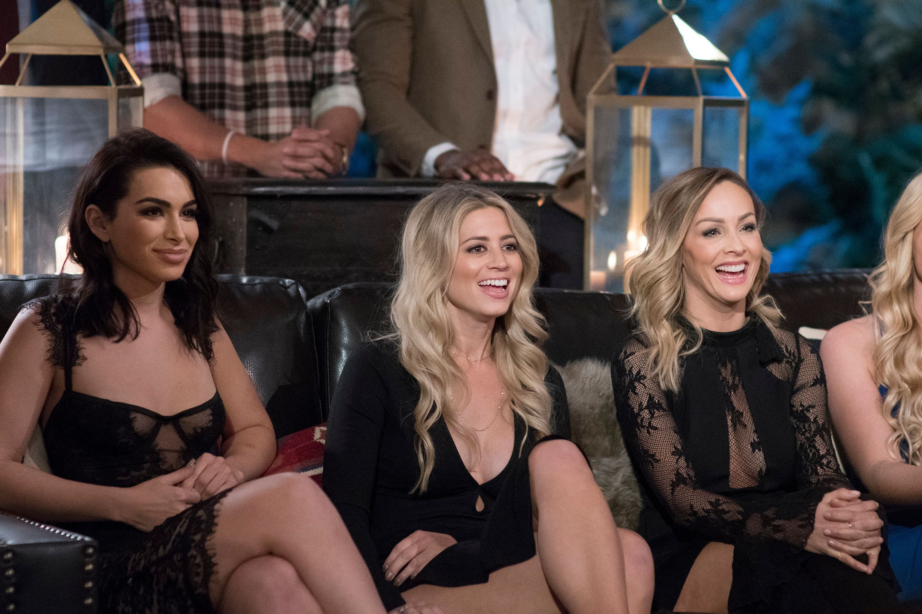 """Ashley Iaconetti, Lesley Murphy and Clare Crawley on """"The Bachelor Winter Games."""""""