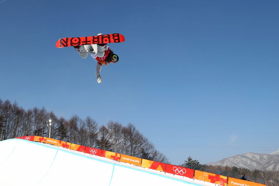 Chloe Kim competes in the halfpipe event on Feb. 13, 2018 at the 2018 Pyeongchang Winter Games.