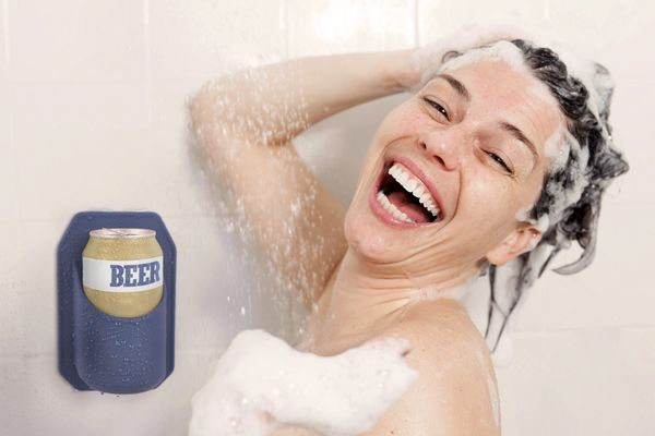 A nice hot shower and a cold beer are the perfect way to end the day, but so far technology hasn't evolved enough to allow th