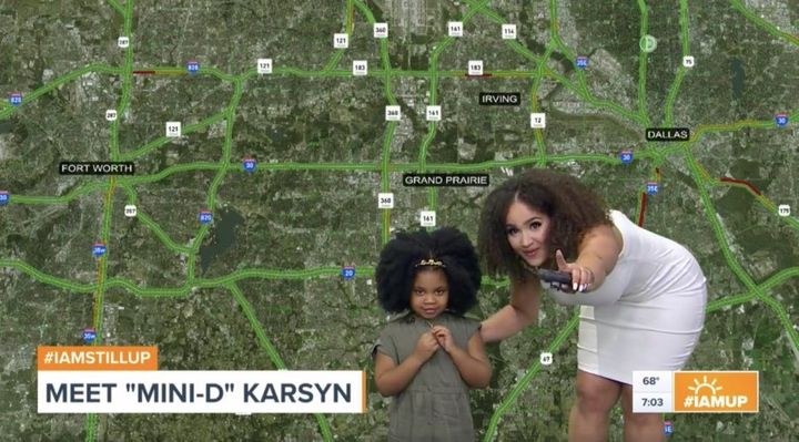 "Demetria Obilor and Karsyn got together on the set of WFAA's ""News 8 Daybreak"" morning broadcast on Thursday."