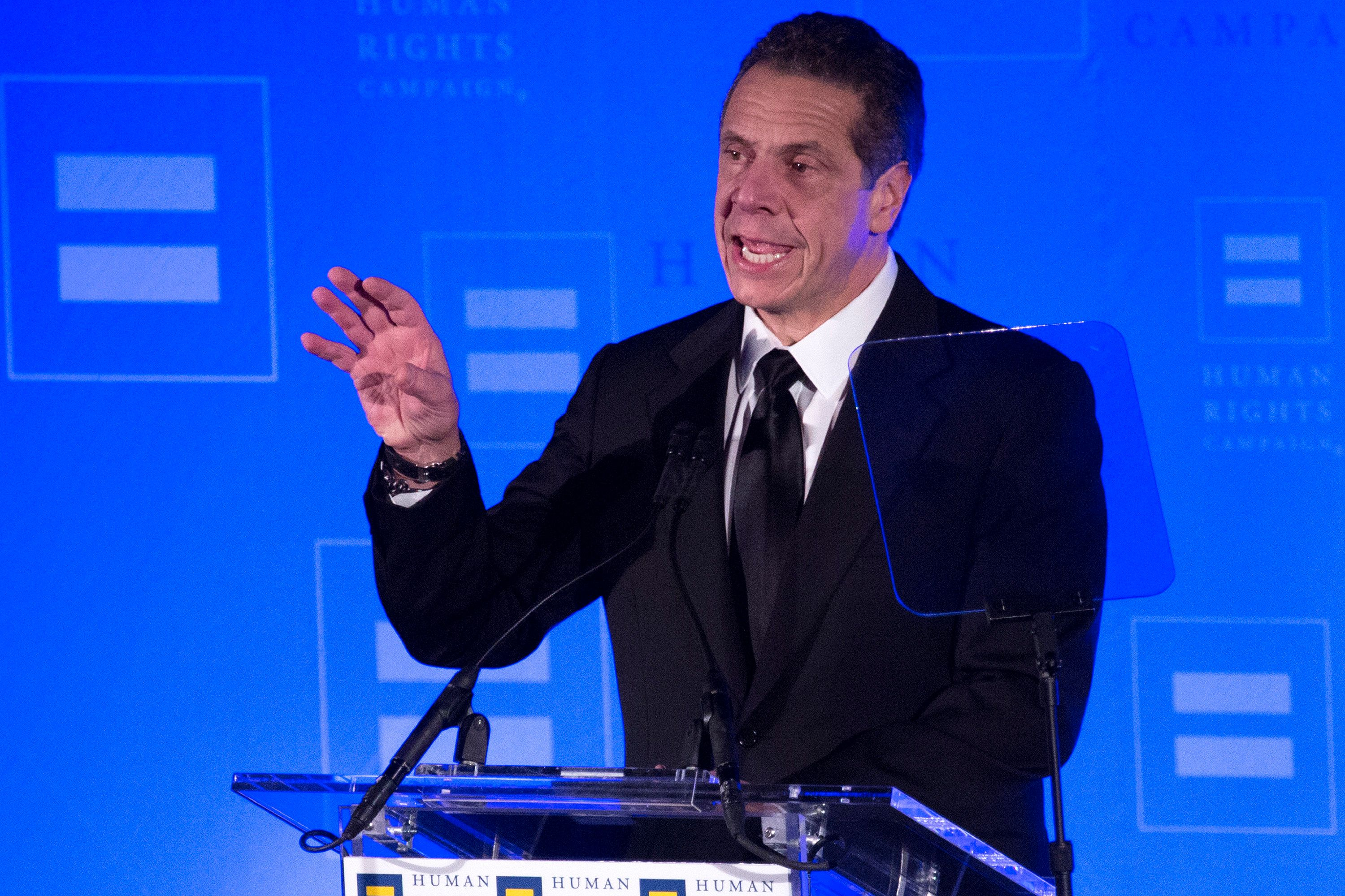 NEW YORK, NY - FEBRUARY 03:  Governor Andrew Cuomo opens the 17th Annual HRC Greater New York Gala at Marriott Marquis Broadway Ballroom on February 3, 2018 in New York City.  (Photo by Santiago Felipe/Getty Images)
